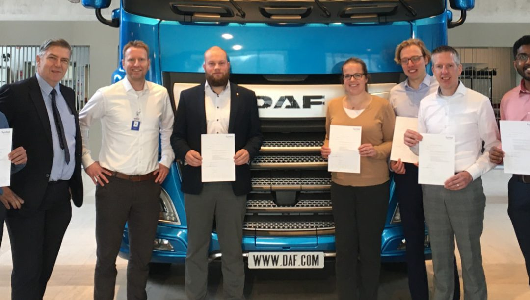 Symbol traint DAF Trucks in 'interne auditing IATF'