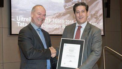 TATA Steel als eerste Europees staalbedrijf gecertificeerd conform IATF16949